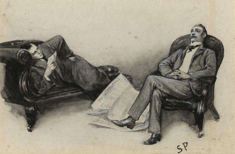 """Иллюстрация к книге """"Шерлок Холмс"""""""
